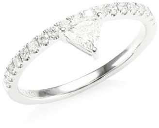 Anita Ko Diond White Gold Tringle Ring