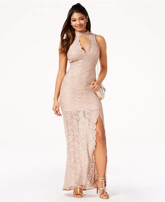 Jump Juniors' Glitter Lace Gown