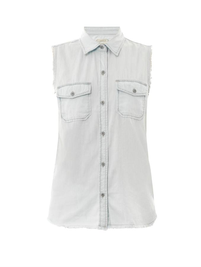 Current/Elliott The Fray sleeveless denim shirt