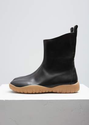 Maison Margiela Leather Tabi Flat Boot