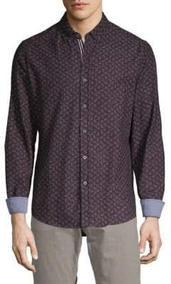 Report Collection Button-Down Printed Shirt
