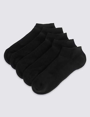 M&S Collection 5 Pack Cushioned Trainer Liner Socks
