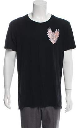 Balmain Scoop Neck Graphic T-Shirt