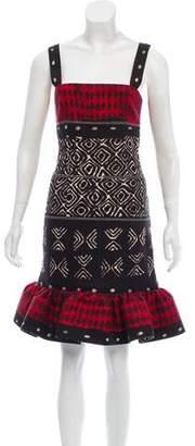 Oscar de la Renta Patterned Knee-Length Dress
