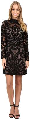 Adrianna Papell Lined Art Deco Lace Shift Dress Women's Dress