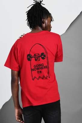 BoohooMAN Oversized Skate Back Print T-Shirt
