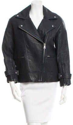 Whistles Leather Moto Jacket $325 thestylecure.com