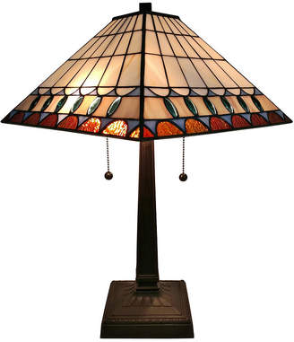 Tiffany & Co. AMORA Amora Lighting AM238TL14 Style Multicolored Mission Table Lamp 21 inches