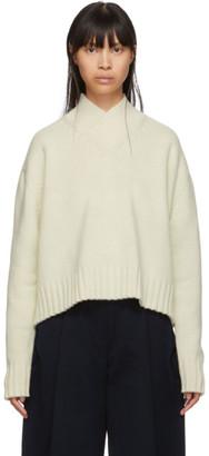 Studio Nicholson Off-White Kelvin V-Neck Sweater