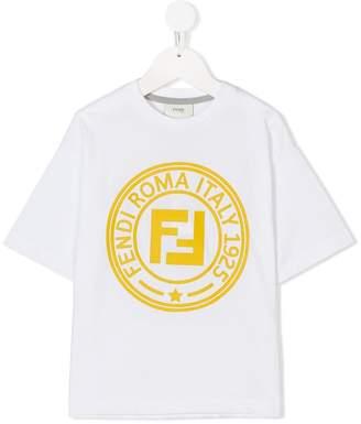 Fendi maxi logo print T-shirt