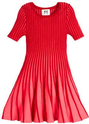 Milly Minis Contrast Godet Flare Dress, Size 4-7