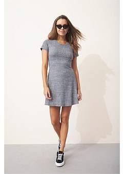 MinkPink Rib Fit & Flare Mini Dress