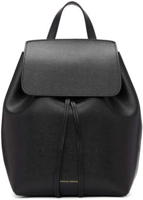 Mansur Gavriel Black Saffiano Mini Backpack