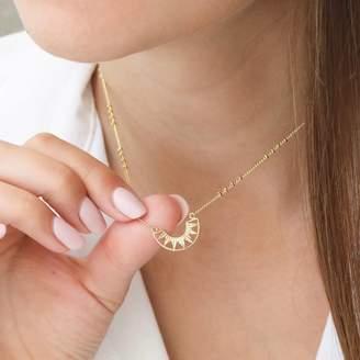 efcf081af Lisa Angel Aztec Sun Pendant Necklace With Satellite Chain