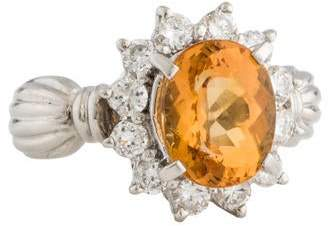 Ring Topaz & Diamond