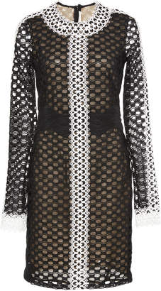 Naeem Khan Long Sleeve Mesh Dress