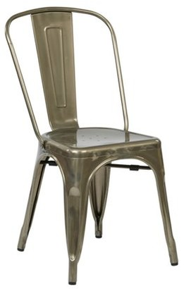 Office Star OSP Designs by Products Bristow Armless Chair, Gunmetal, 2-Pack