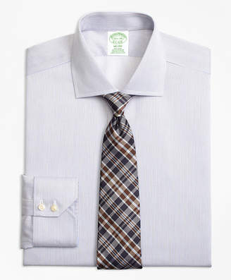 Brooks Brothers Milano Slim-Fit Dress Shirt, Non-Iron Narrow Stripe
