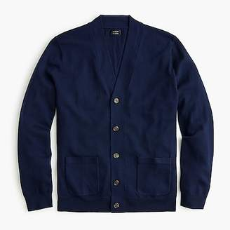 J.Crew Merino wool wide placket V-neck cardigan sweater