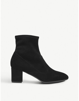 LK Bennett Alexis suede heeled ankle boots