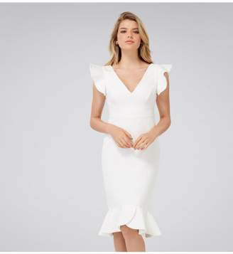 Ever New Montie Petite Frill Sleeve Dress