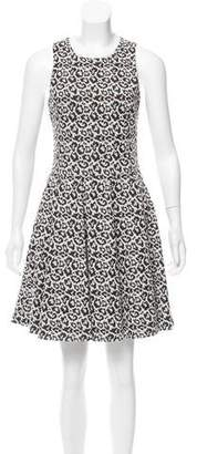 Tibi Cheetah Sleeveless Mini Dress