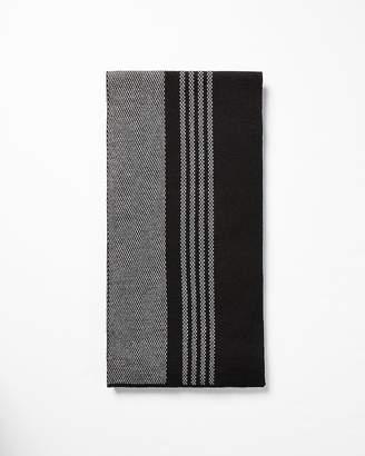 Express Double Jacquard Merino Wool-Blend Scarf