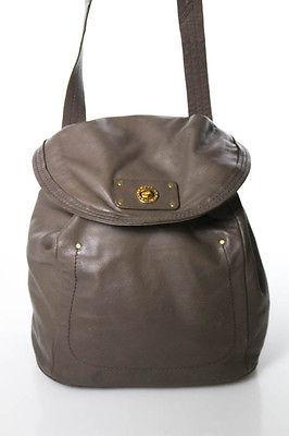 Marc By Marc JacobsMarc By Marc Jacobs Brown Leather Turn Lock Closure 2 Pocket Crossbody Handbag