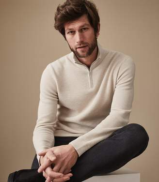 Reiss ORDER BY MIDNIGHT DEC 15TH FOR CHRISTMAS DELIVERY FIELDER FUNNEL NECK JUMPER Oatmeal