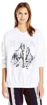 Baja East Women's French Terry Baja Logo Sweatshirt