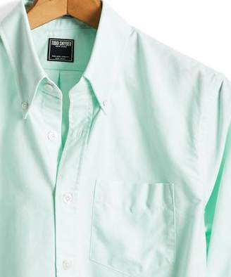 Todd Snyder Solid Oxford Shirt in Mint