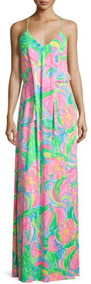 Lilly Pulitzer Rosa Sleeveless Printed Maxi Dress $248 thestylecure.com