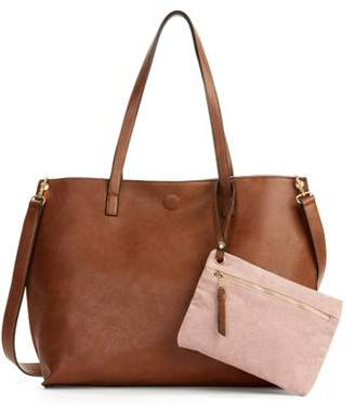 Milly Metallic Sky Reversible Tote with Pouch