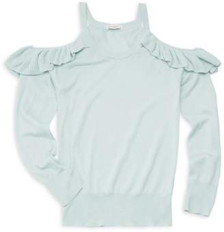 Ella Moss Girl's Cold Shoulder Sweater