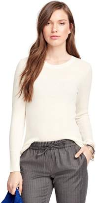 Brooks Brothers Merino Wool Ribbed Crewneck Sweater
