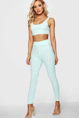 boohoo Pastel Crepe High Waist Leggings