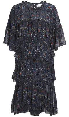 Velvet by Graham & Spencer Tiered Chiffon Mini Dress