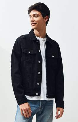 PacSun Black Destroy Classic Denim Jacket