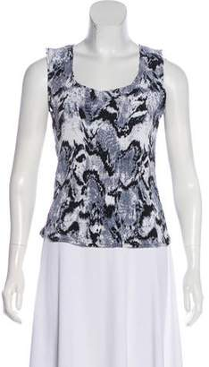 Alberto Makali Sleeveless Abstract Print Top