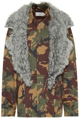 Preen by Thornton Bregazzi Dree fur-trimmed camouflage jacket