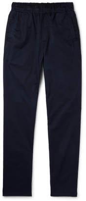 Bottega Veneta Slim-Fit Garment-Dyed Cotton Trousers - Men - Navy