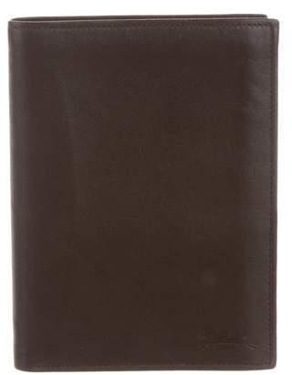 Longchamp Leather Passport Wallet