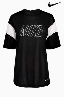 Next Womens Nike Dry Black Training Tee