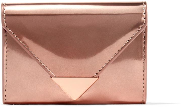 Alexander WangAlexander Wang Prisma metallic glossed-leather wallet