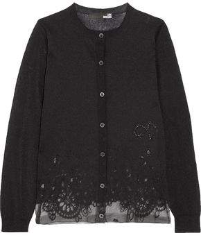 Love Moschino Burnout Cotton-Blend Cardigan