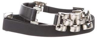 Suzi Roher Leather Chain-Link Waist Belt w/ Tags