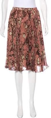 Peter Som Pleated Metallic Skirt
