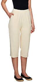 Denim & Co. Essentials Knit Terry Pull-on CapriPants