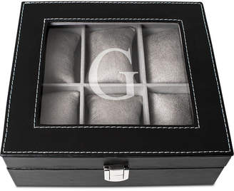 Cathy's Concepts Men's Black Faux-Leather Personalized Watch Box