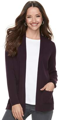 Croft & Barrow Petite Classic Open Front Cardigan